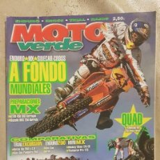 Coches y Motocicletas: REVISTA MOTO VERDE N° 322 AÑO 2005 ED.5. COMPARATIVAS: TRIAL EXCURSION/ENDURO 200/MINI MX.. Lote 136633618