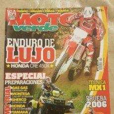 Coches y Motocicletas: REVISTA MOTO VERDE N° 323 AÑO 2005 ED.6.ESPECIAL PREP: MX TRIAL, GAS GAS,MONTESA,SHERCO,HONDA,YAMAHA. Lote 136635238