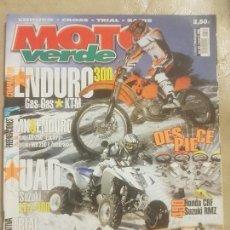 Coches y Motocicletas: REVISTA MOTO VERDE N° 321 AÑO 2005 ED.4. COMPA: ENDURO 300,GAS GAS, KTM.TRIAL 80 BETA,CLIPIC,GAS GAS. Lote 136636718