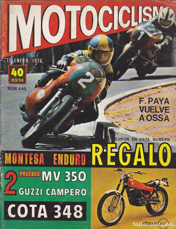 REVISTA MOTOCICLISMO ENERO 1976 MONTESA 348 (Coches y Motocicletas - Revistas de Motos y Motocicletas)