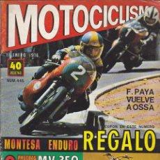 Coches y Motocicletas: REVISTA MOTOCICLISMO ENERO 1976 MONTESA 348 . Lote 136723646