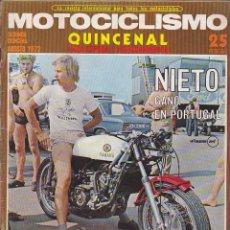 Coches y Motocicletas: REVISTA MOTOCICLISMO 2ª QUINCENA AGOSTO 1972 PRUEBA GUZZI V-850. Lote 136725090