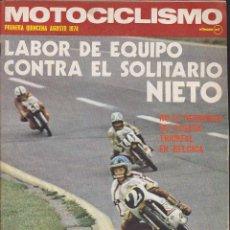 Coches y Motocicletas: REVISTA MOTOCICLISMO 1ª QUINCENA AGOSTO 1974 . Lote 136725842