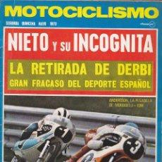Coches y Motocicletas: REVISTA MOTOCICLISMO 2ª QUINCENA MAYO 1973 . Lote 136824994