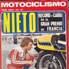 Coches y Motocicletas: REVISTA MOTOCICLISMO 1ª QUINCENA MAYO 1973 . Lote 136825030