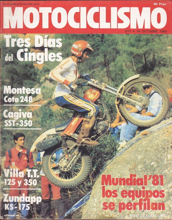 REVISTA MOTOCICLISMO 18 OCTUBRE 1980 MONTESA 248 (Coches y Motocicletas - Revistas de Motos y Motocicletas)