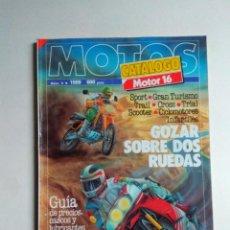 Coches y Motocicletas: REVISTA MOTOR 16 CATALOGO MOTOS Nº 9 APRILIA DUCATI BENELLI KAWASAKI HONDA SUZUKI YAMAHA BMW PUCH . Lote 136829170