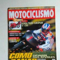 Coches y Motocicletas: REVISTA MOTOCICLISMO Nº 1519 HONDA ST 1200 YAMAHA XV 1200 XVX 1300 ROYAL KASAWAKI ZRX HONDA CRE 250. Lote 137136462