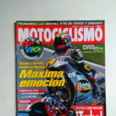 Coches y Motocicletas: REVISTA MOTOCICLISMO Nº 1537 HONDA CBR 900 RR TURBO SUZUKI FREEWIND DR KYMCO 124 APRILIA LEONARDO. Lote 137139850