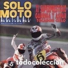 Coches y Motocicletas: REVISTA SOLO MOTO ACTUAL Nº 804 AÑO 1991. PRU: HONDA NR. HONDA CBR SUPERSPORT. GILERA RT 50 * 43. Lote 137216934