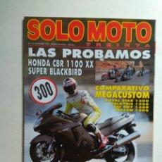 Coches y Motocicletas: REVISTA SOLO MOTO 30 Nº 163 HONDA CBR VALKYRIE SLR HARLEY FAT BOY YAMAHA XVZ KASAWAKI VULCAN SUZUKI . Lote 137407746