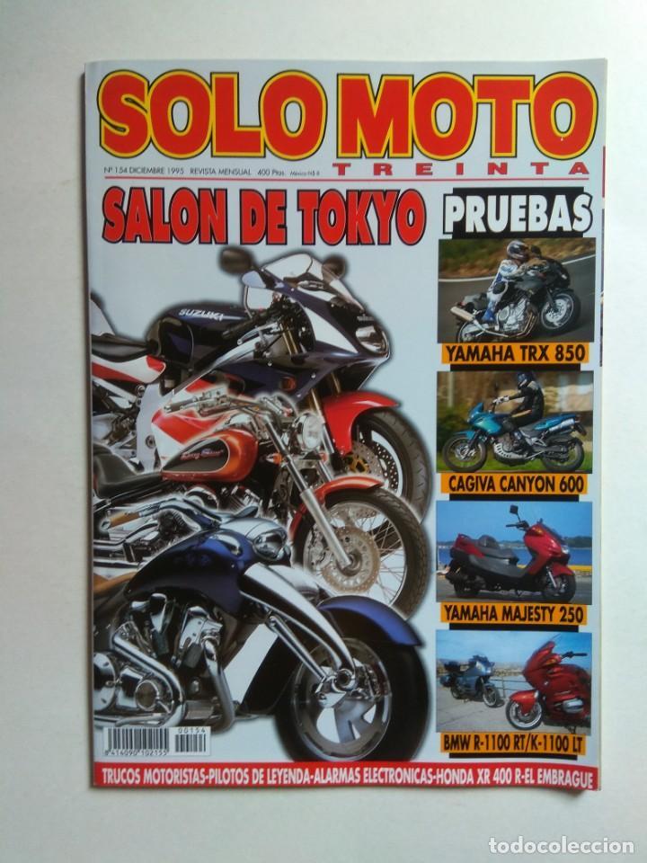 REVISTA SOLO MOTO 30 Nº 154 YAMAHA TRX MAJESTY XS CAGIVA CANYON BMW R1100  K1100 HONDA XR PIAGGIO HEX