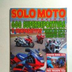 Coches y Motocicletas: REVISTA SOLO MOTO 30 Nº 150 YAMAHA FZR HONDA CBR CB SCOOPY KAWASAKI ZX TRIUMPH SPEED TRIDENT THUDERB. Lote 137409106