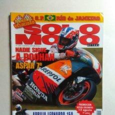 Coches y Motocicletas: REVISTA SOLO MOTO Nº 1104 . Lote 137417662
