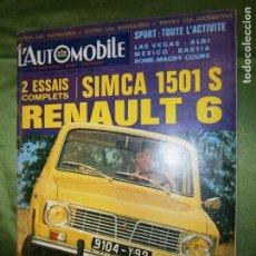 Coches y Motocicletas: (F1) REVISTA FRANCESA . Lote 137494386