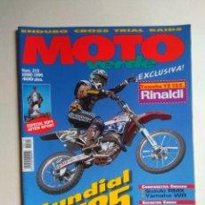 Coches y Motocicletas: REVISTA MOTO VERDE Nº 215 SUZUKI RMX YAMAHA WR YZ RINALDI, 12 HORAS LIGNANO SABBIADORO SHANE WATTS. Lote 138753806
