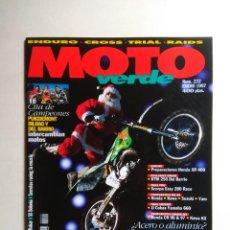Coches y Motocicletas: REVISTA MOTO VERDE Nº 222 HONDA XR CR KAWASAKI KX SUZUKI RM SCORPA EASY DAKAR KTM SX YAMAHA YZ. Lote 138793970