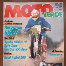 Coches y Motocicletas: MOTO VERDE Nº 149 - DICIEMBRE 1990. Lote 140039226