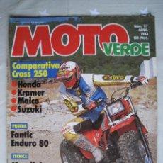 Coches y Motocicletas: REVISTA MOTO VERDE - Nº 57 - ABRIL 1983.. Lote 140950962