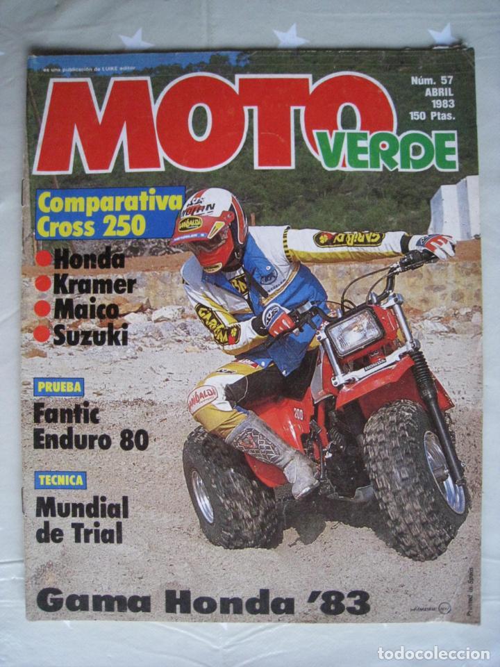 Coches y Motocicletas: REVISTA MOTO VERDE - Nº 57 - ABRIL 1983. - Foto 2 - 140950962