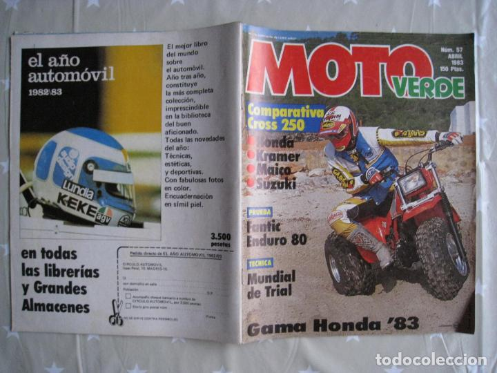 Coches y Motocicletas: REVISTA MOTO VERDE - Nº 57 - ABRIL 1983. - Foto 3 - 140950962