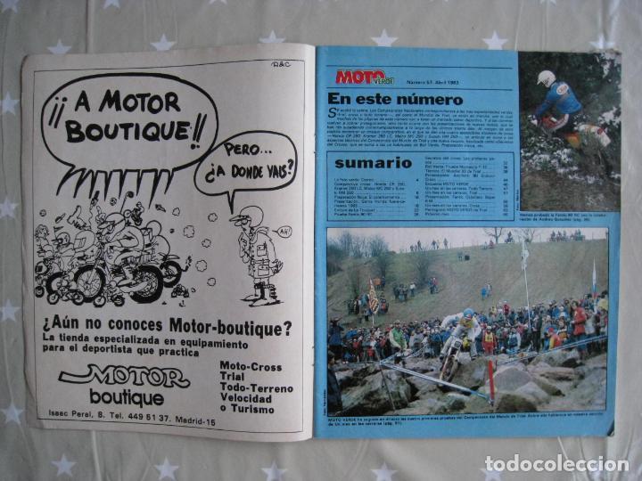 Coches y Motocicletas: REVISTA MOTO VERDE - Nº 57 - ABRIL 1983. - Foto 4 - 140950962