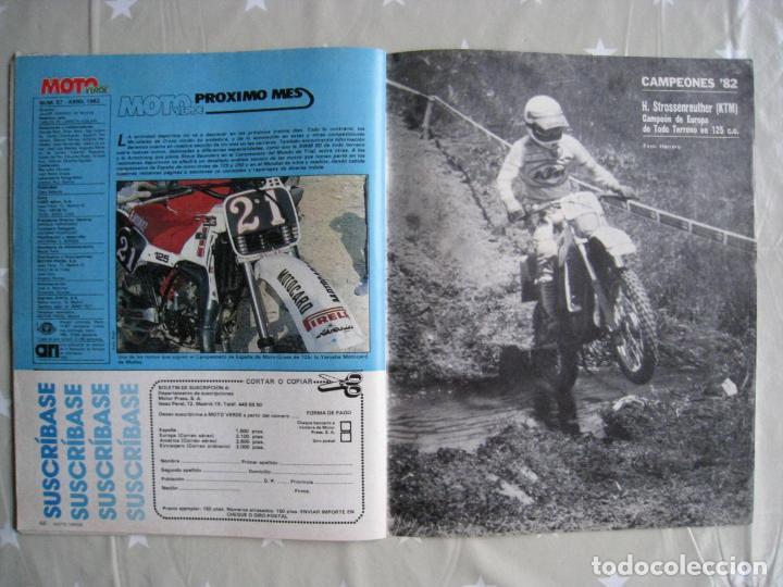 Coches y Motocicletas: REVISTA MOTO VERDE - Nº 57 - ABRIL 1983. - Foto 12 - 140950962