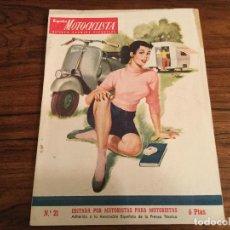 Coches y Motocicletas: ESPAÑA MOTOCICLISTA, REVISTA TECNICA DEPORTIVA N. 21, JUNIO 1953, VESPA PORTADA OSSA MV MONTESA ETC. Lote 141233574