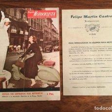 Coches y Motocicletas: ESPAÑA MOTOCICLISTA, REVISTA TECNICA DEPORTIVA N. 23, 1953, VESPA MOTO PORTADA CATALOGO MAFEL VIGO . Lote 141236506