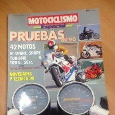 Coches y Motocicletas: REVISTA MOTOCICLISMO ESPECIAL PRUEBAS 89/90 42 MOTOS HONDA DUCATI YAMAHA KAWASAKI . Lote 141767758
