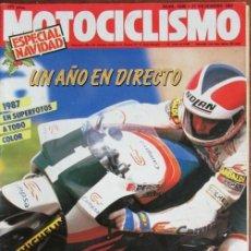 Coches y Motocicletas: REVISTA MOTOCICLISMO Nº 1036 1987 KAWASAKI ZX-10, SITO PONS, RANDY MAMOLA, ASPAR, DERBI,. Lote 142037126