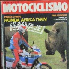 Coches y Motocicletas: MOTOCICLISMO Nº 1062 1988 HONDA ÁFRICA TWIN, NORTON COMMANDER, BMW K/100, BUBBA SHOBERT. Lote 142056786