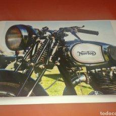 Coches y Motocicletas: FOTO - CARTEL MOTOCICLETA NORTON. TAMAÑO 45 CM X 32 CM. Lote 142083453