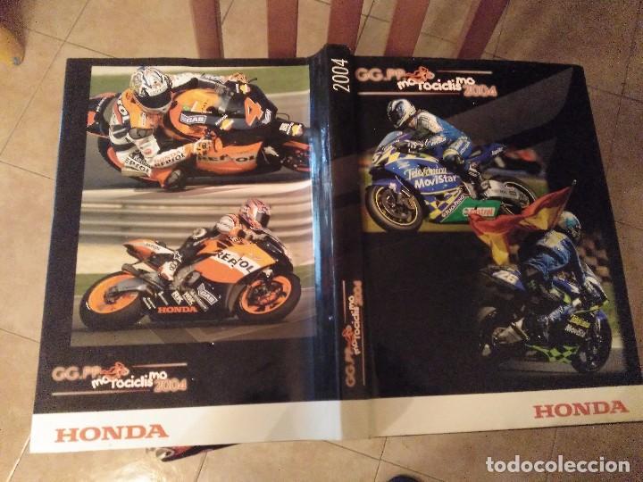 ESPECTACULAR Y GRAN TOMO GG.PP. MOTOCICLISMO 2004 CAMPEONES DEL MUNDO 125,250 MOTO GP,MICHELIN... (Coches y Motocicletas - Revistas de Motos y Motocicletas)
