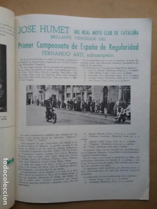 Coches y Motocicletas: MOTO SPORT REVISTA N° 10 1953 MOTOCICLETA MOTOCICLISMO - Foto 5 - 142499530