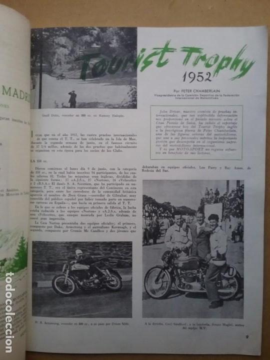 Coches y Motocicletas: MOTO SPORT REVISTA N° 4 1952 MOTOCICLETA MOTOCICLISMO - Foto 3 - 142499938
