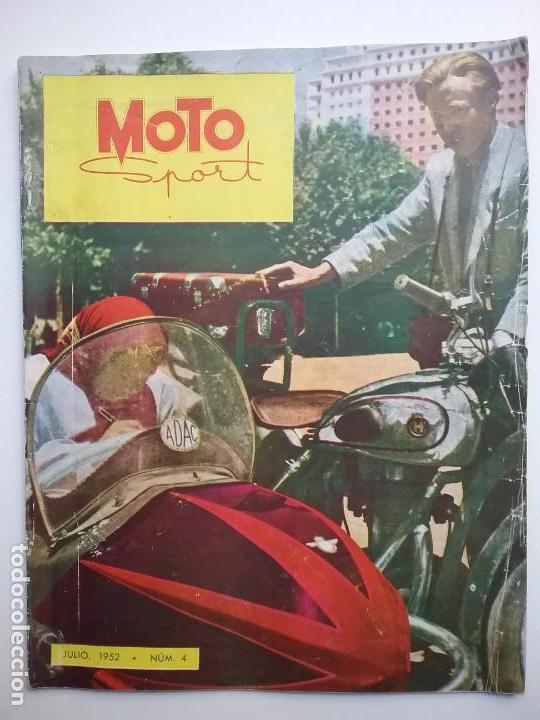 MOTO SPORT REVISTA N° 4 1952 MOTOCICLETA MOTOCICLISMO (Coches y Motocicletas - Revistas de Motos y Motocicletas)