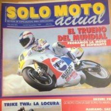 Coches y Motocicletas: REVISTA SOLO MOTO ACTUAL Nº 706 NOVIEMBRE 1989 PRUEBA SUZUKI 500 GP SCHAWANTZ/KAWASAKI KX250. Lote 143176670