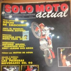 Coches y Motocicletas: REVISTA SOLO MOTO ACTUAL Nº717 FEBRERO 1990 MONTESA COTA 310/ MOTO VESPA DELTA . Lote 143179134