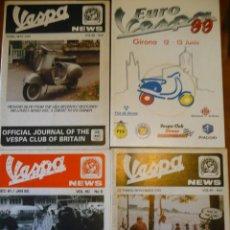 Coches y Motocicletas: LOTE 4 REVISTAS VESPA EUROVESPA (VER FOTOS) QUADROPHENIA MODS SCOOTER. Lote 143278026