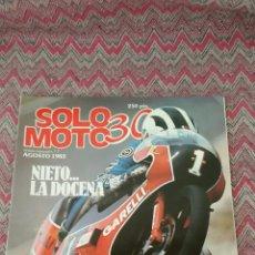Coches y Motocicletas: REVISTA SOLO MOTO 30 AGOSTO 1983 N°7 NIETO LA DOCENA. Lote 144346481