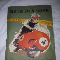 Coches y Motocicletas: RAREZA REVISTA R. MOTO CLUB DE ANDALUCÍA, CIRCUITO SEVILLA 1959. Lote 144378674