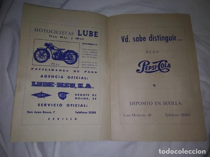 Coches y Motocicletas: Rareza Revista R. Moto club de Andalucía, circuito Sevilla 1959 - Foto 2 - 144378674