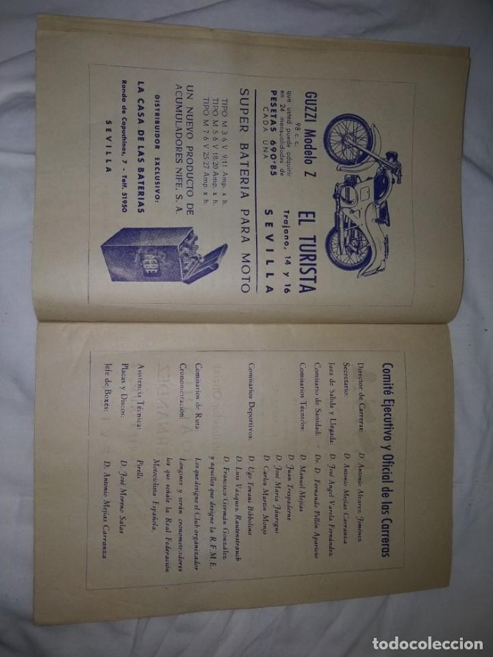 Coches y Motocicletas: Rareza Revista R. Moto club de Andalucía, circuito Sevilla 1959 - Foto 6 - 144378674