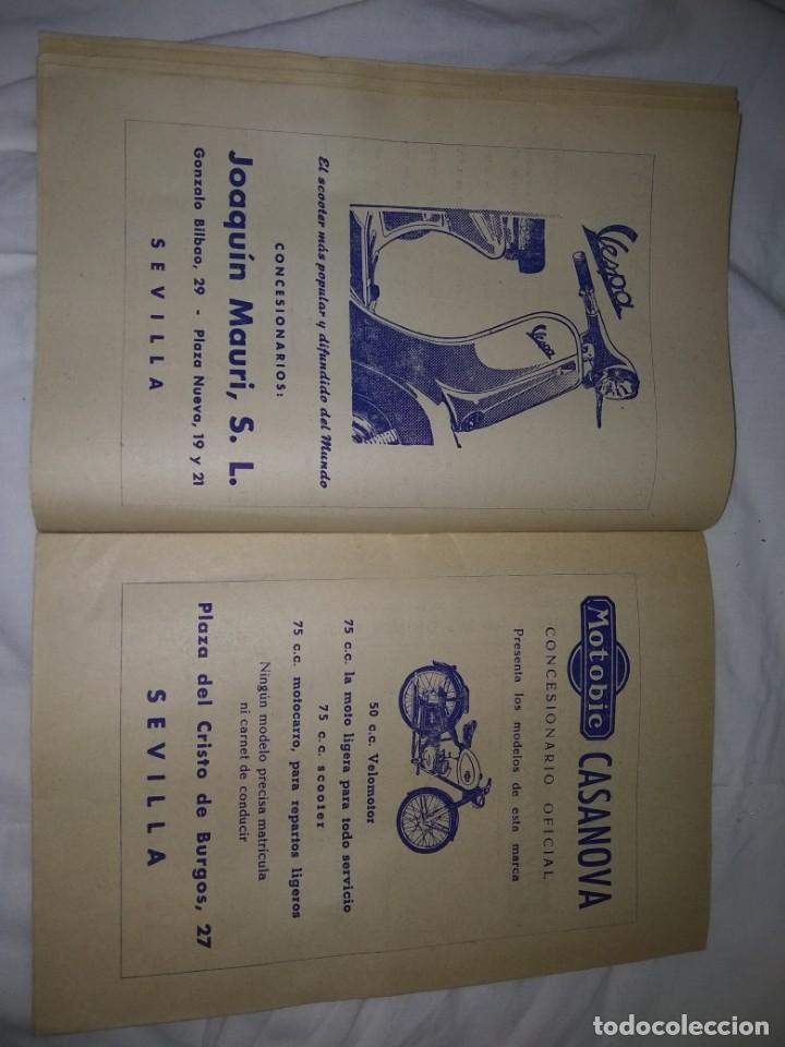 Coches y Motocicletas: Rareza Revista R. Moto club de Andalucía, circuito Sevilla 1959 - Foto 8 - 144378674