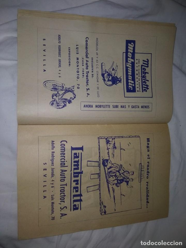 Coches y Motocicletas: Rareza Revista R. Moto club de Andalucía, circuito Sevilla 1959 - Foto 9 - 144378674