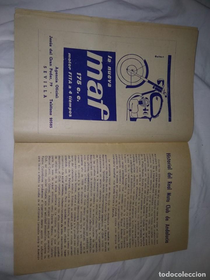Coches y Motocicletas: Rareza Revista R. Moto club de Andalucía, circuito Sevilla 1959 - Foto 10 - 144378674
