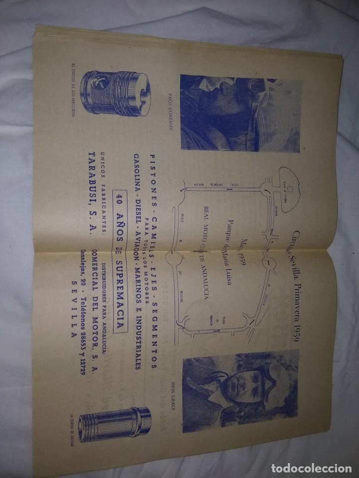 Coches y Motocicletas: Rareza Revista R. Moto club de Andalucía, circuito Sevilla 1959 - Foto 12 - 144378674
