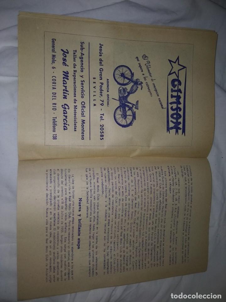 Coches y Motocicletas: Rareza Revista R. Moto club de Andalucía, circuito Sevilla 1959 - Foto 13 - 144378674