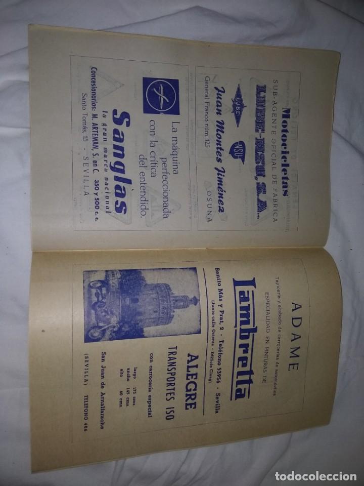 Coches y Motocicletas: Rareza Revista R. Moto club de Andalucía, circuito Sevilla 1959 - Foto 21 - 144378674